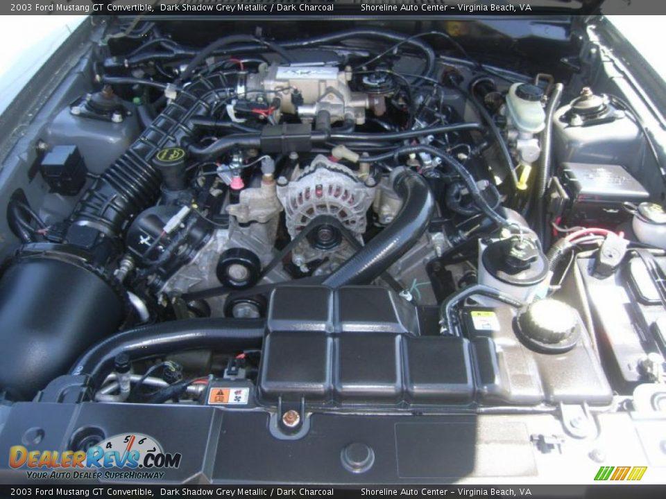 2003 ford mustang gt convertible 4 6 liter sohc 16 valve v8 engine photo 17. Black Bedroom Furniture Sets. Home Design Ideas