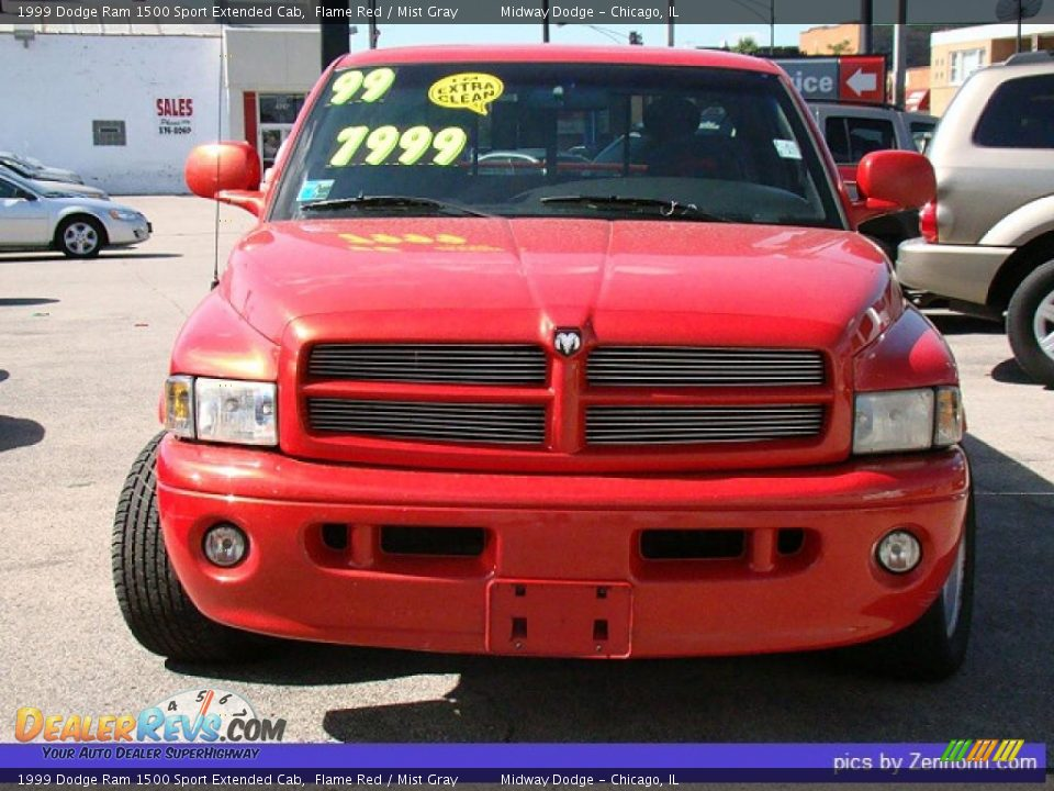 1999 dodge ram 1500 sport extended cab flame red mist gray photo 8. Black Bedroom Furniture Sets. Home Design Ideas