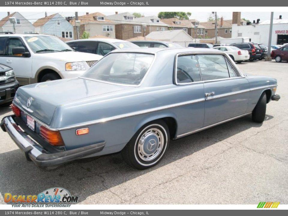1974 mercedes benz w114 280 c blue blue photo 4 for 1974 mercedes benz 280