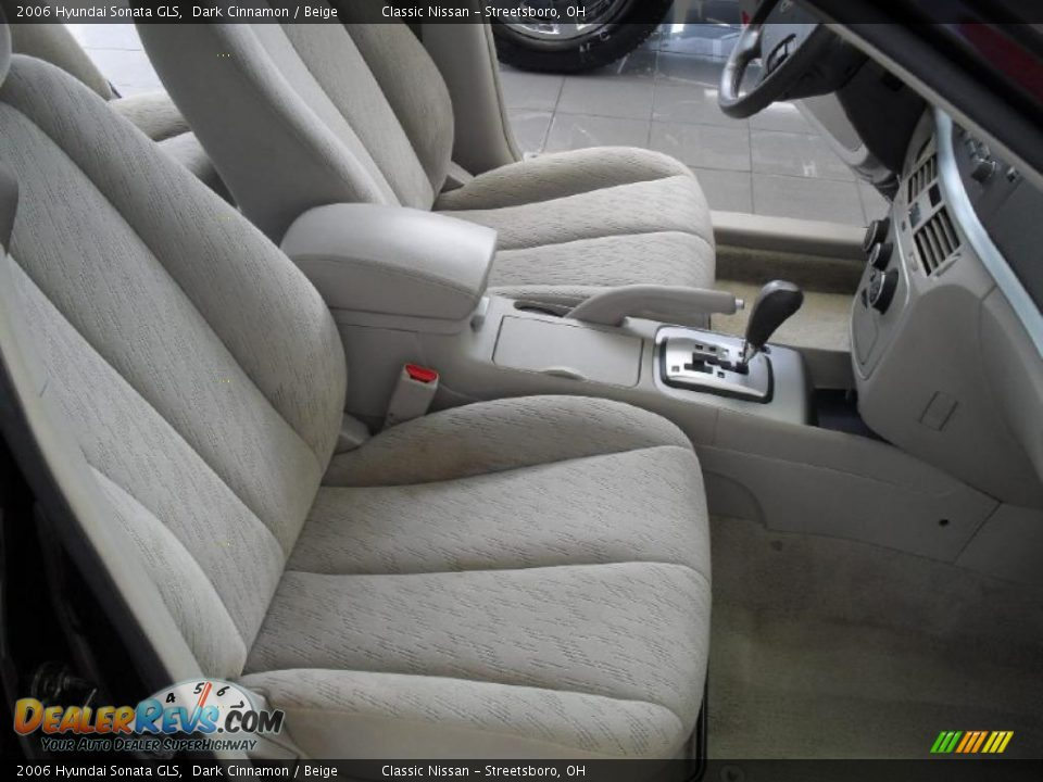 Beige Interior 2006 Hyundai Sonata Gls Photo 17