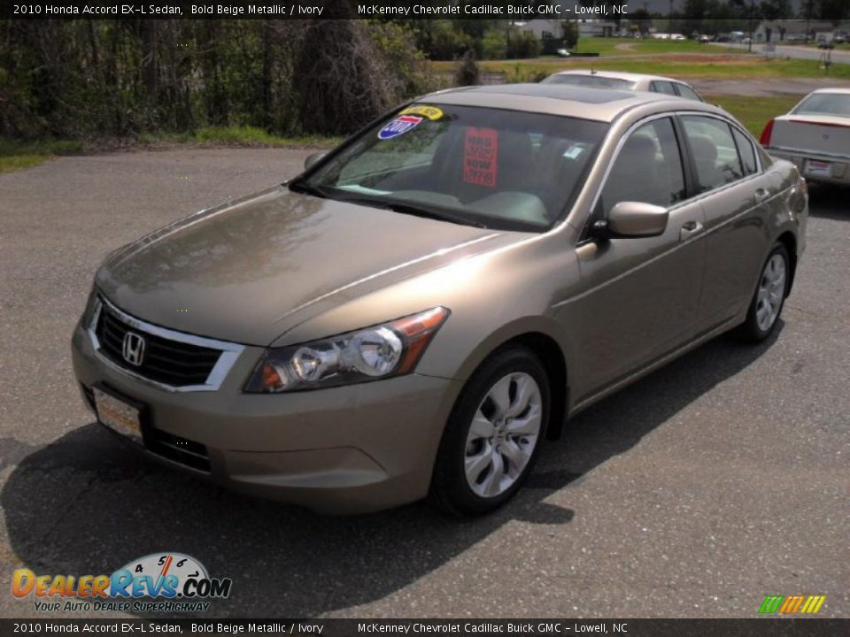 2010 Honda Accord Ex L Sedan Bold Beige Metallic Ivory