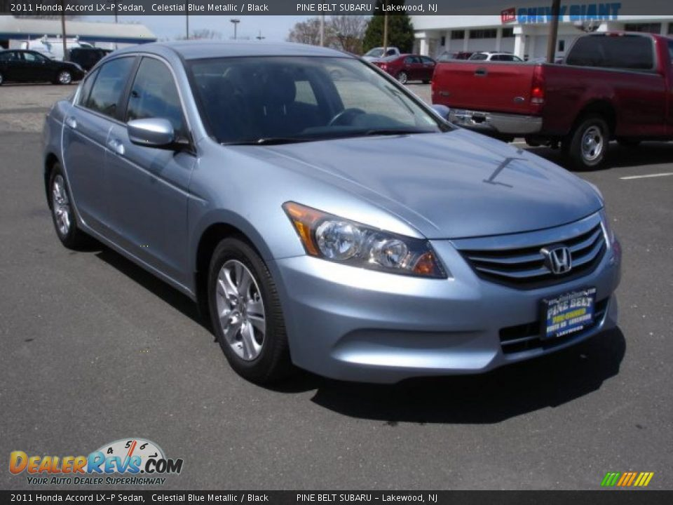 2011 Honda Accord Lx P Sedan Celestial Blue Metallic Black Photo 3 Dealerrevs Com