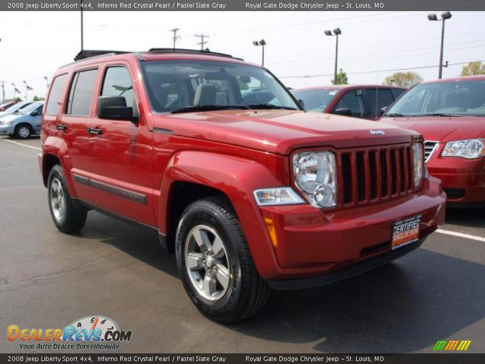 2008 jeep liberty sport 4x4 inferno red crystal pearl pastel slate gray photo 2. Black Bedroom Furniture Sets. Home Design Ideas