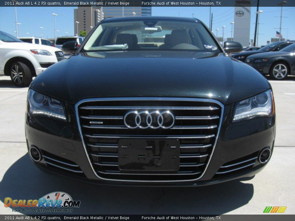 emerald black metallic 2011 audi a8 l 4 2 fsi quattro. Black Bedroom Furniture Sets. Home Design Ideas