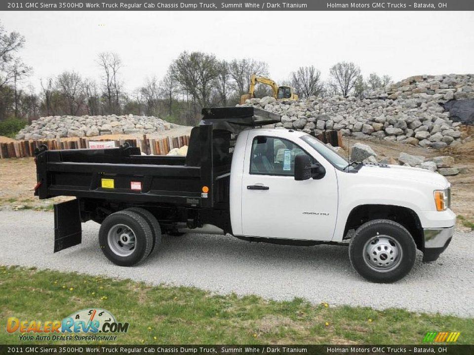 Summit White 2011 Gmc Sierra 3500hd Work Truck Regular Cab
