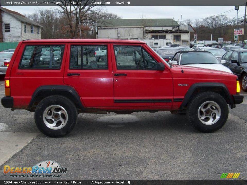 1994 jeep cherokee sport 4x4 flame red beige photo 8 dealerrevs com