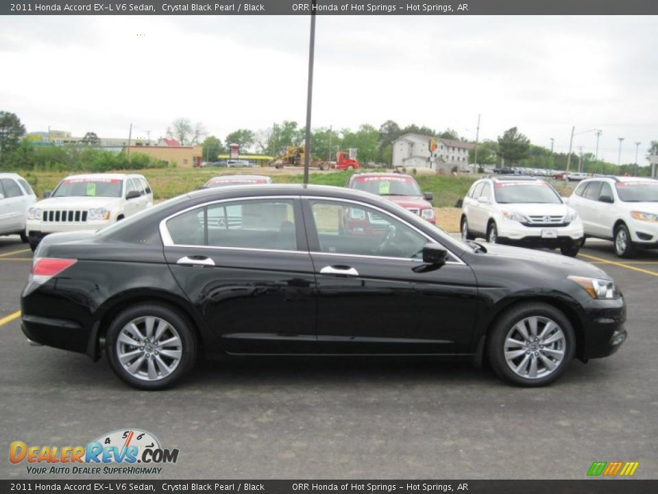 Crystal Black Pearl 2011 Honda Accord Ex L V6 Sedan Photo 6 Dealerrevs Com