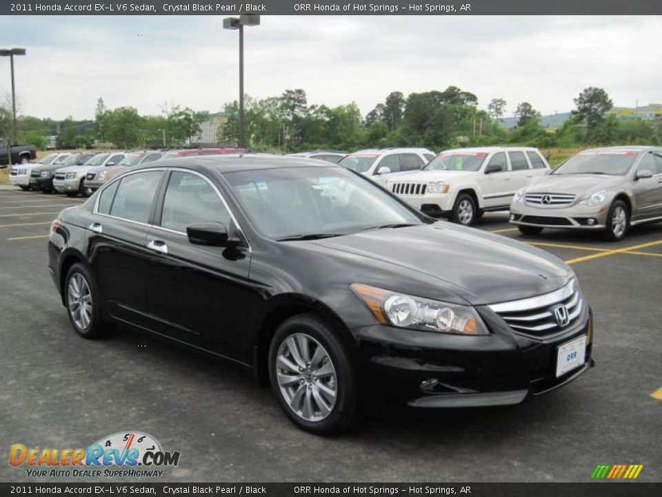 2011 Honda Accord Ex L V6 Sedan Crystal Black Pearl