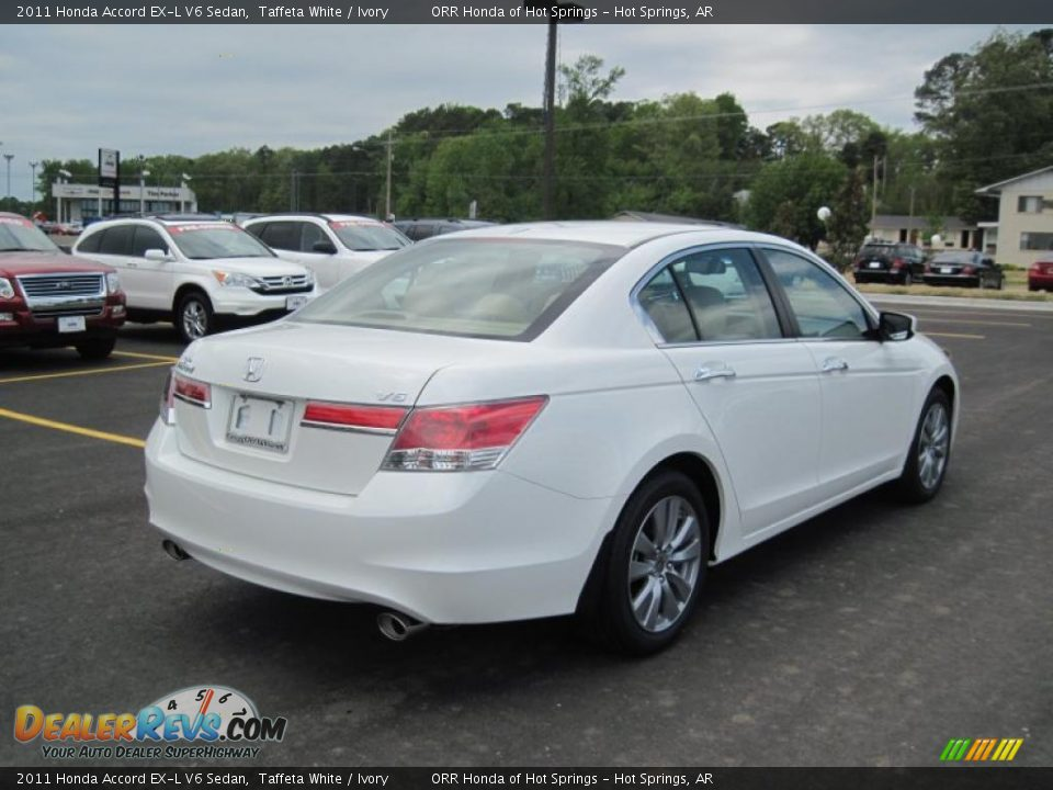 Taffeta White 2011 Honda Accord Ex L V6 Sedan Photo 5