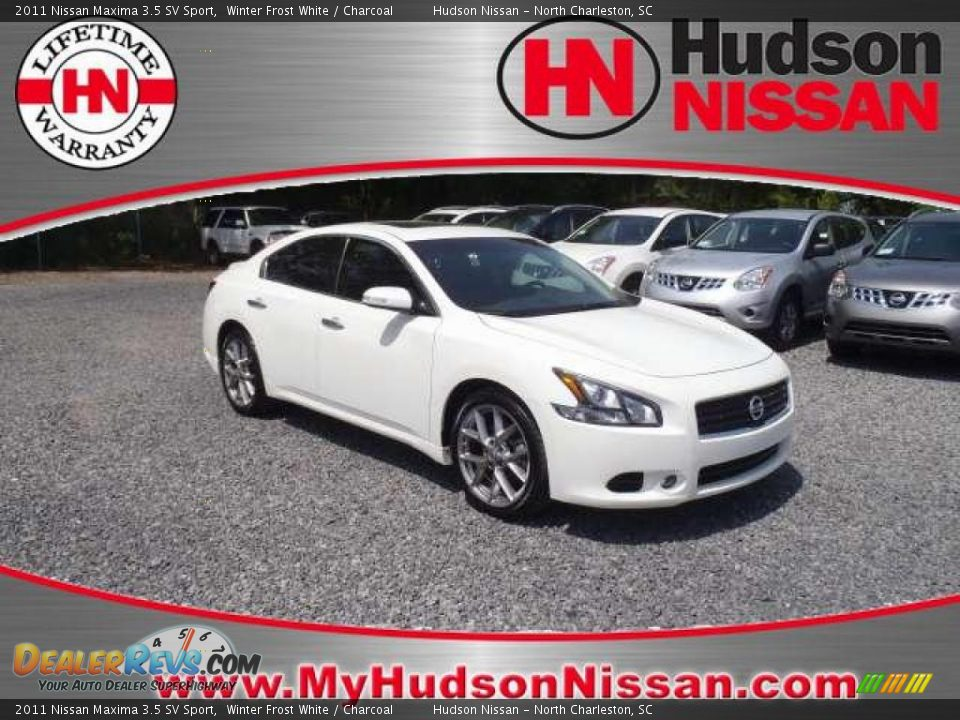 2011 nissan maxima 3 5 sv sport winter frost white charcoal photo 1. Black Bedroom Furniture Sets. Home Design Ideas