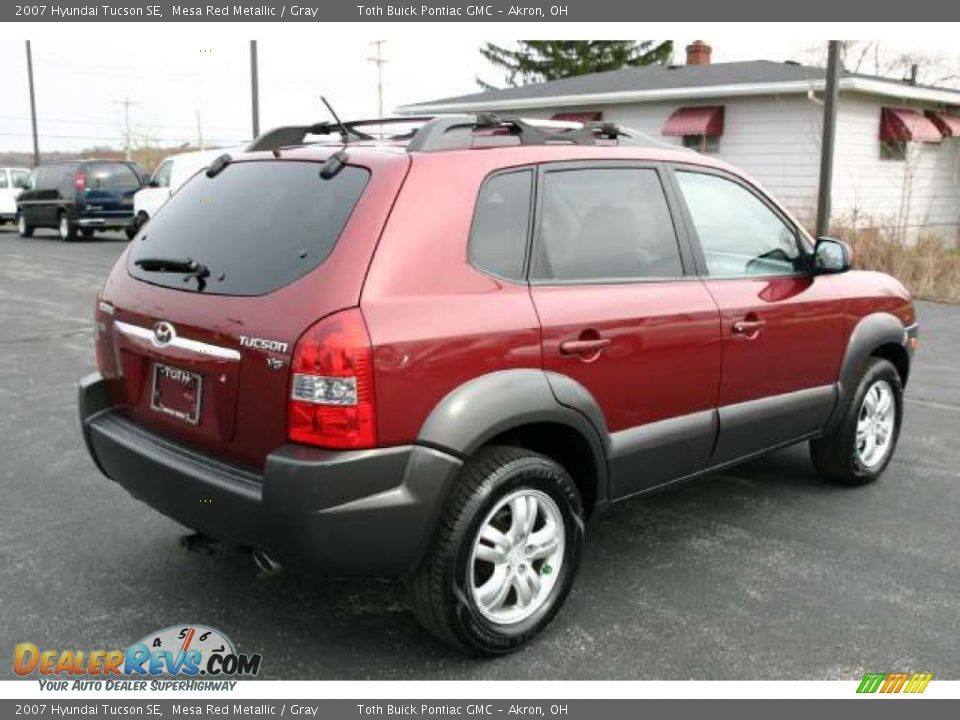 2007 hyundai tucson se mesa red metallic gray photo 3. Black Bedroom Furniture Sets. Home Design Ideas