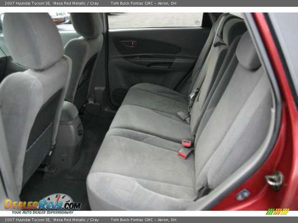 Gray Interior 2007 Hyundai Tucson Se Photo 5