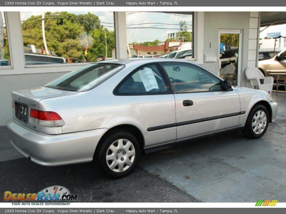 1999 Honda Civic Dx Coupe Vogue Silver Metallic Dark Gray Photo