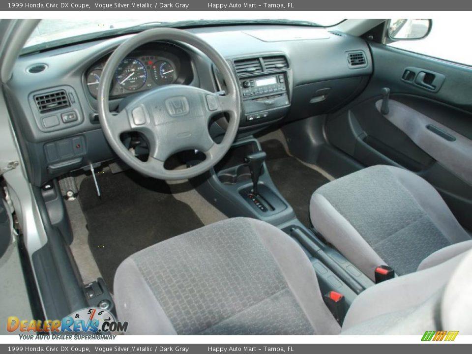 Dark Gray Interior 1999 Honda Civic Dx Coupe Photo 19