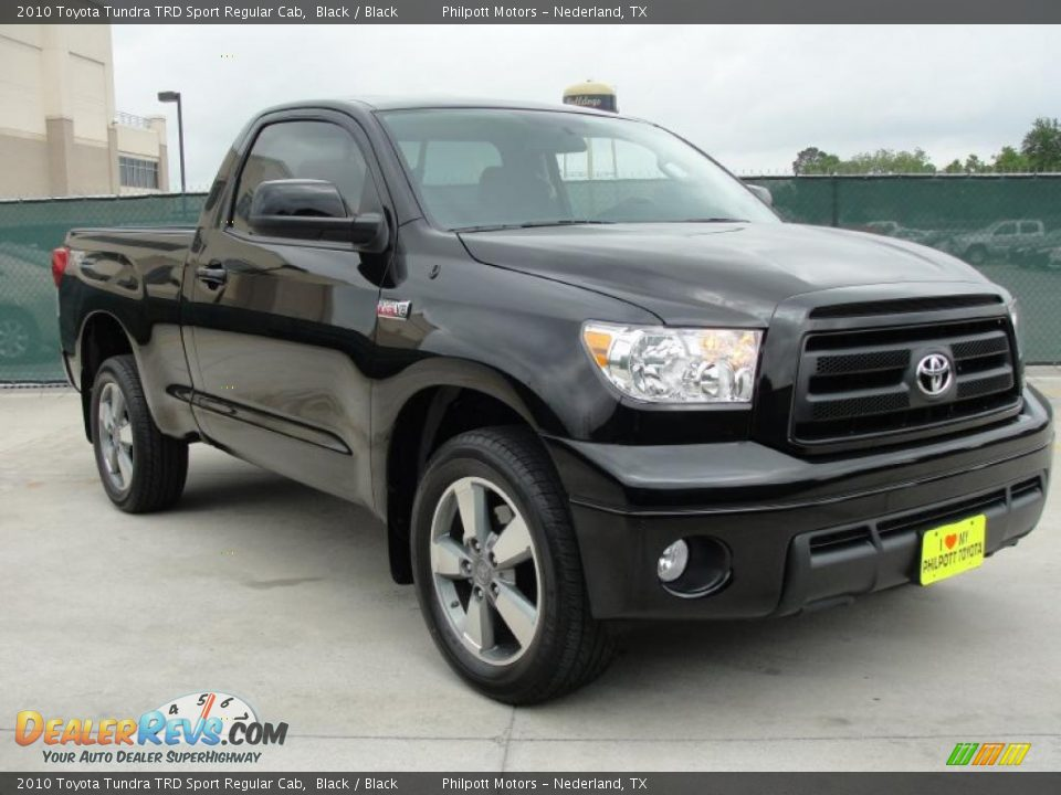2010 toyota tundra trd sport regular cab black black photo 1. Black Bedroom Furniture Sets. Home Design Ideas