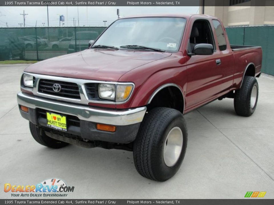 1995 toyota tacoma extended cab 4x4 sunfire red pearl. Black Bedroom Furniture Sets. Home Design Ideas