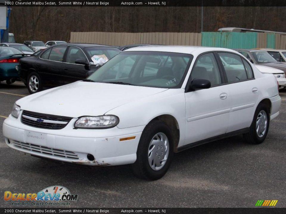 2003 chevrolet malibu sedan summit white neutral beige photo 3 dealerrev. Cars Review. Best American Auto & Cars Review