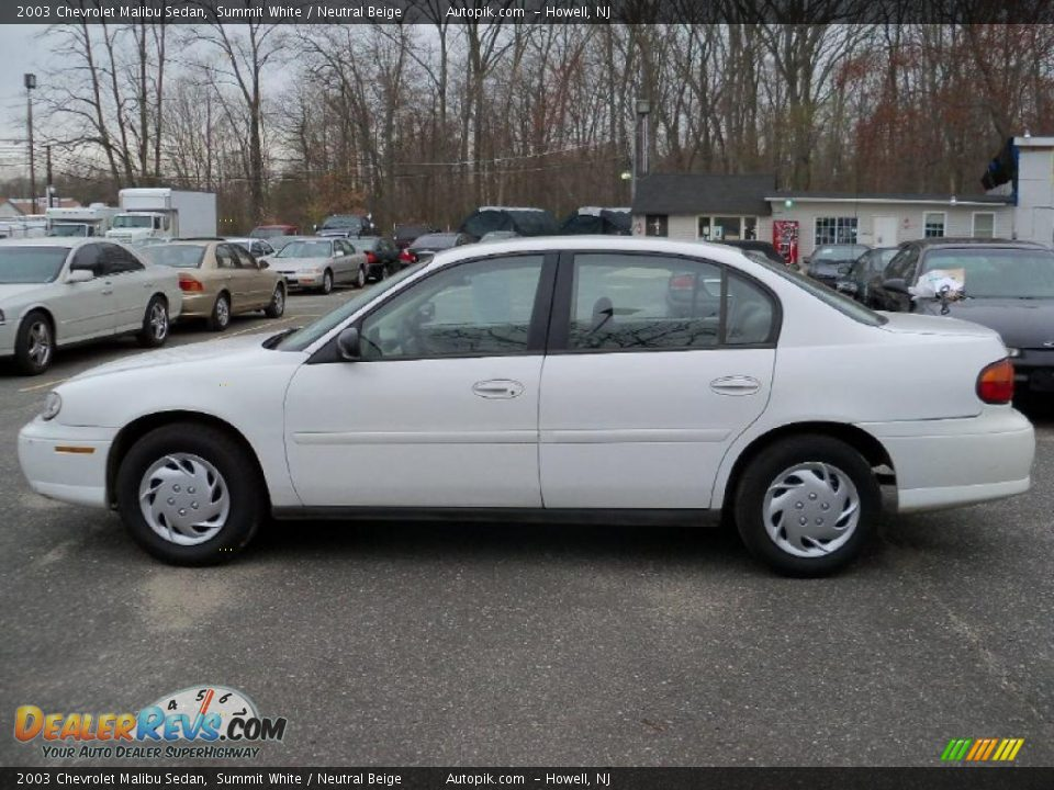 2003 Chevrolet Malibu Sedan Summit White Neutral Beige