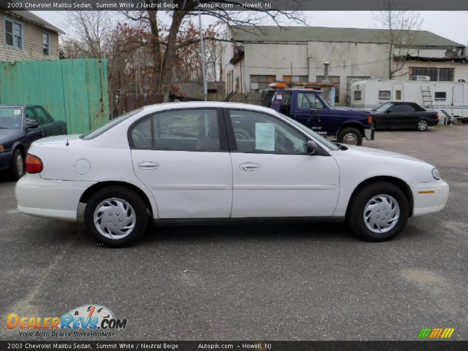 White Malibu Car >> 2003 Chevrolet Malibu Sedan Summit White / Neutral Beige ...
