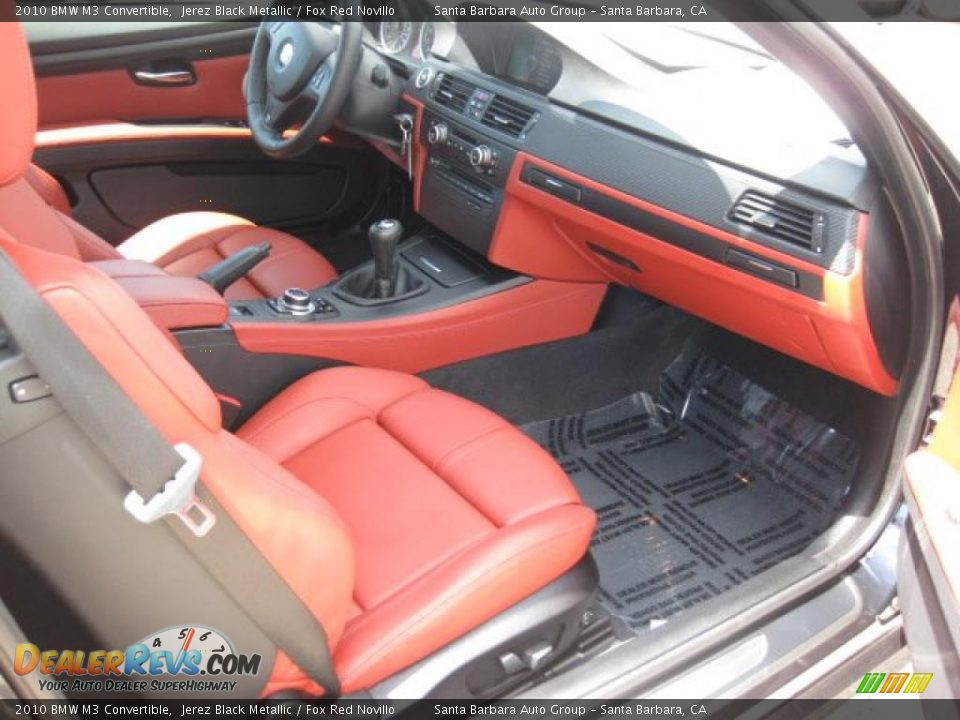 Fox Red Novillo Interior 2010 Bmw M3 Convertible Photo 7