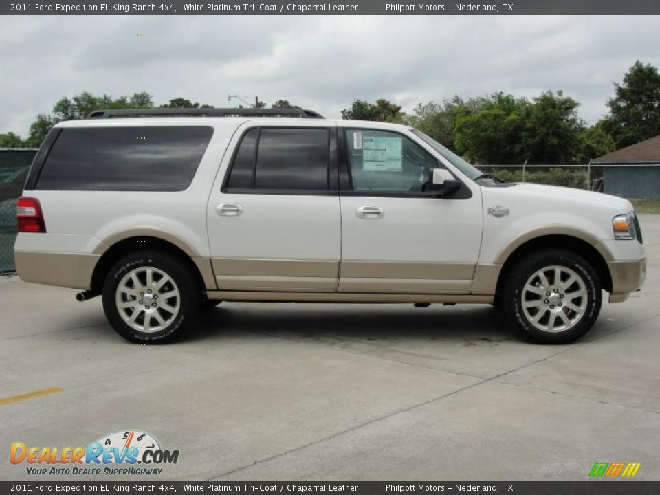 white platinum tri coat 2011 ford expedition el king ranch. Black Bedroom Furniture Sets. Home Design Ideas