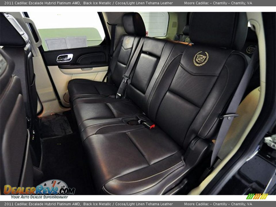 Cocoa Light Linen Tehama Leather Interior 2011 Cadillac Escalade Hybrid Platinum Awd Photo 11