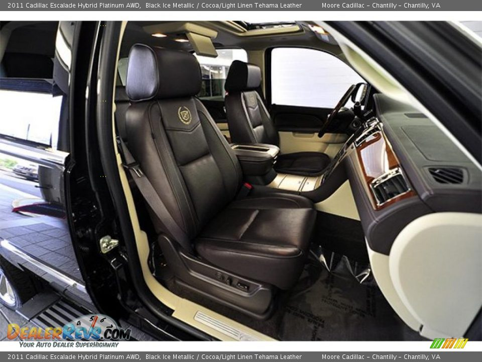 Cocoa Light Linen Tehama Leather Interior 2011 Cadillac Escalade Hybrid Platinum Awd Photo 13
