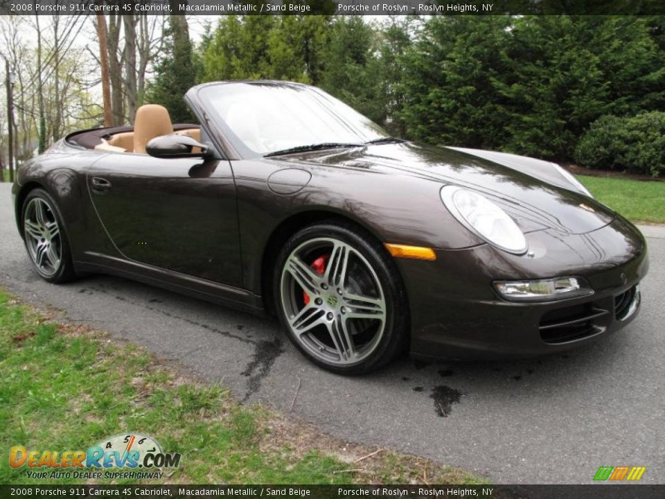 2008 porsche 911 carrera 4s cabriolet macadamia metallic. Black Bedroom Furniture Sets. Home Design Ideas