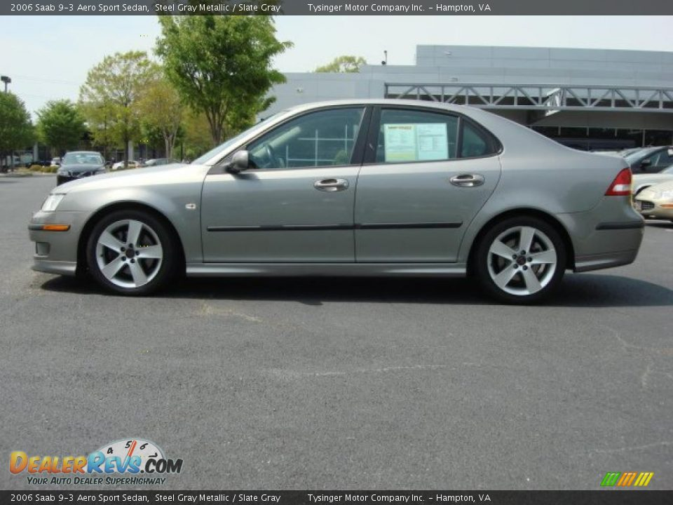 Steel Gray Metallic 2006 Saab 9-3 Aero Sport Sedan Photo #3