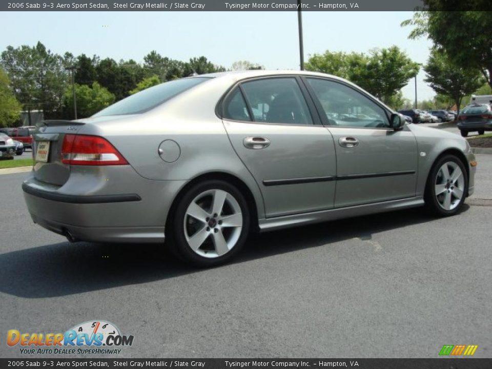 2006 Saab 9-3 Aero Sport Sedan Steel Gray Metallic / Slate Gray Photo #6