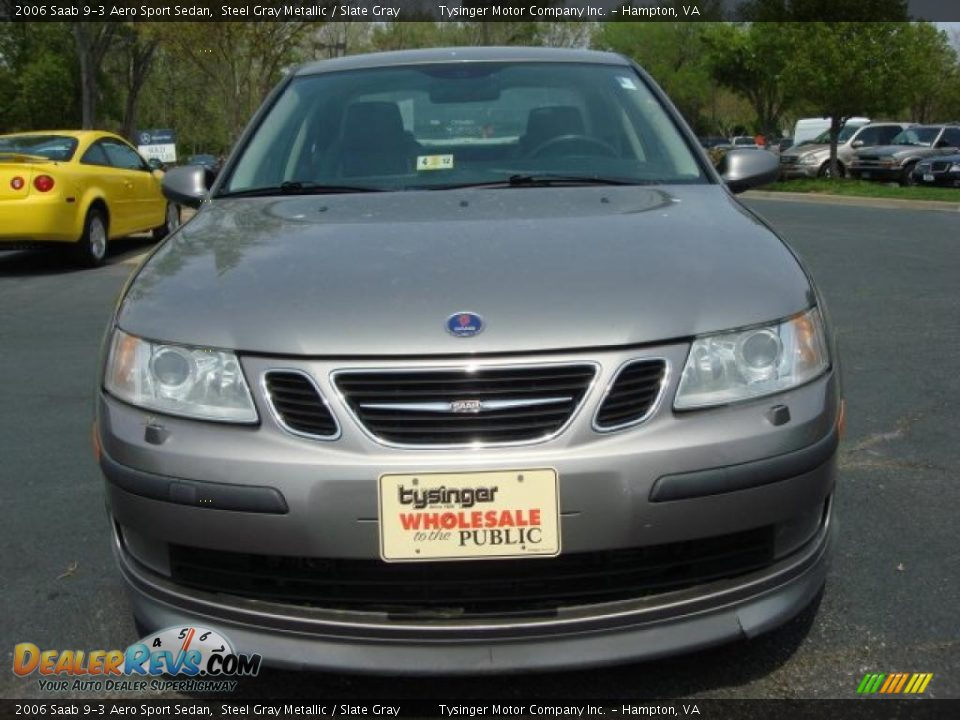 2006 Saab 9-3 Aero Sport Sedan Steel Gray Metallic / Slate Gray Photo #9