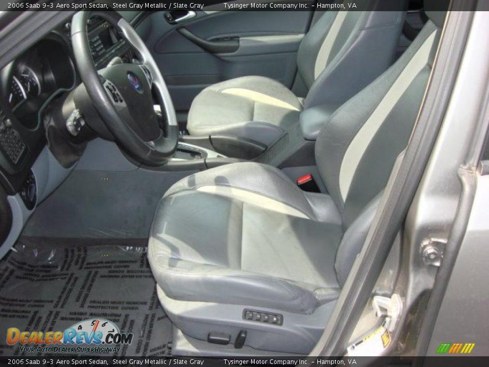 Slate Gray Interior - 2006 Saab 9-3 Aero Sport Sedan Photo #10