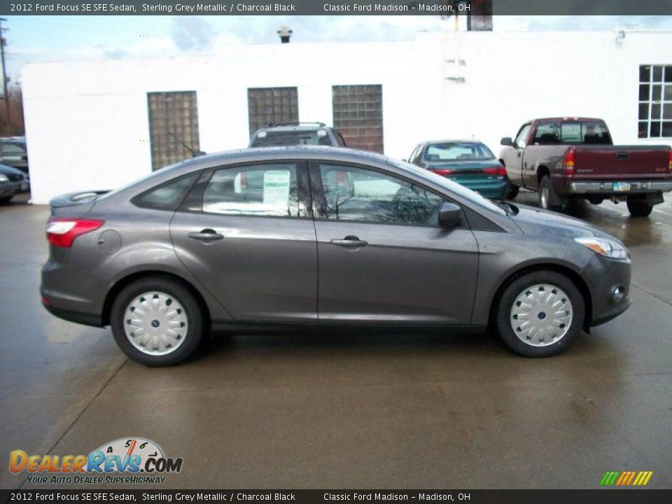 sterling grey metallic 2012 ford focus se sfe sedan photo 4. Black Bedroom Furniture Sets. Home Design Ideas