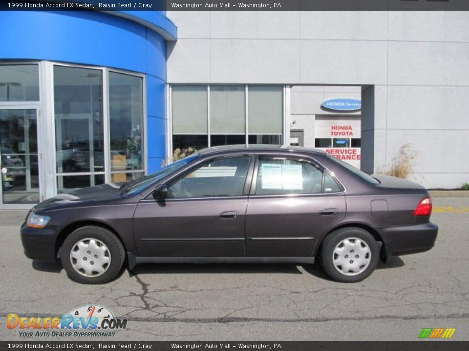 1999 Honda Accord Lx Sedan Raisin Pearl Gray Photo 3