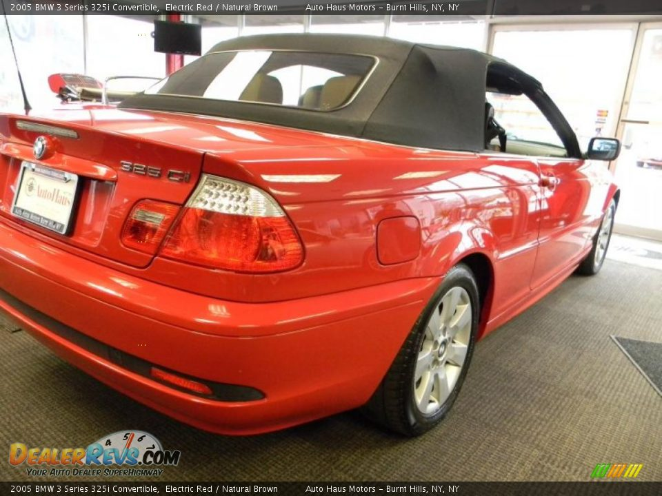 2005 bmw 3 series 325i convertible electric red natural brown photo 11. Black Bedroom Furniture Sets. Home Design Ideas