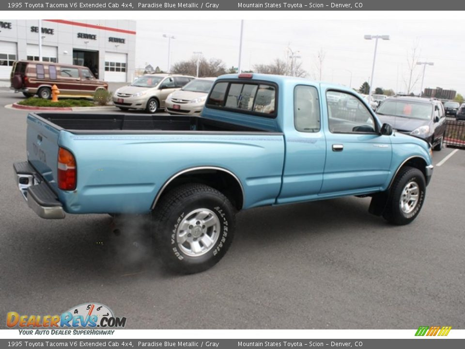 1995 toyota tacoma v6 extended cab 4x4 paradise blue metallic gray photo 2. Black Bedroom Furniture Sets. Home Design Ideas