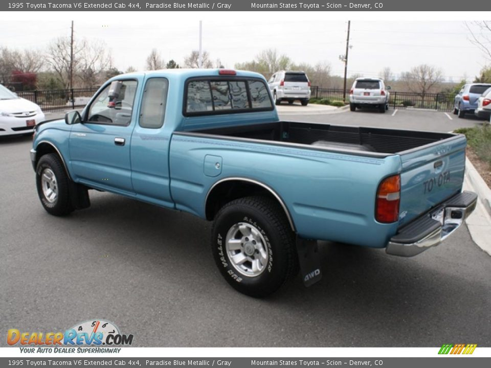 1995 toyota tacoma v6 extended cab 4x4 paradise blue metallic gray photo 4. Black Bedroom Furniture Sets. Home Design Ideas