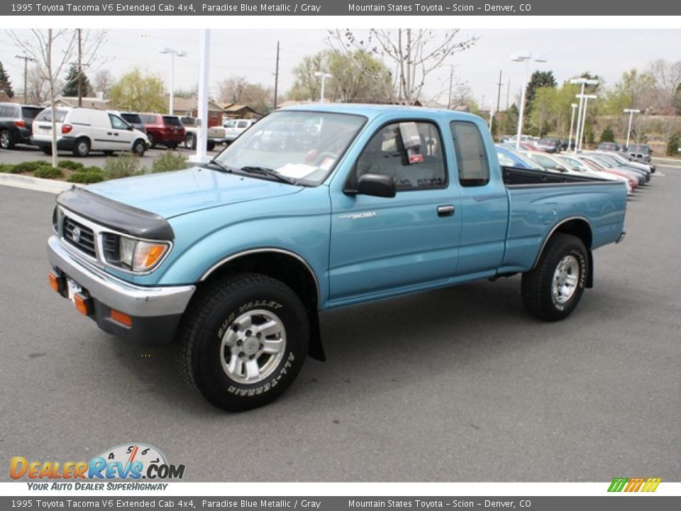 front 3 4 view of 1995 toyota tacoma v6 extended cab 4x4 photo 5. Black Bedroom Furniture Sets. Home Design Ideas
