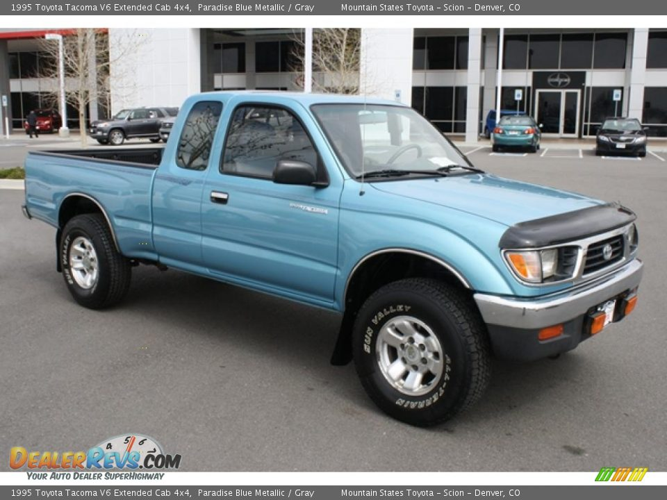 paradise blue metallic 1995 toyota tacoma v6 extended cab 4x4 photo 7. Black Bedroom Furniture Sets. Home Design Ideas