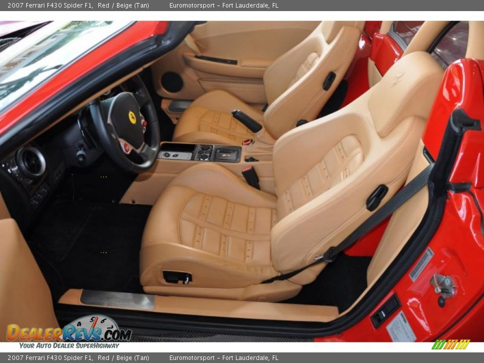 beige tan interior 2007 ferrari f430 spider f1 photo 9. Black Bedroom Furniture Sets. Home Design Ideas