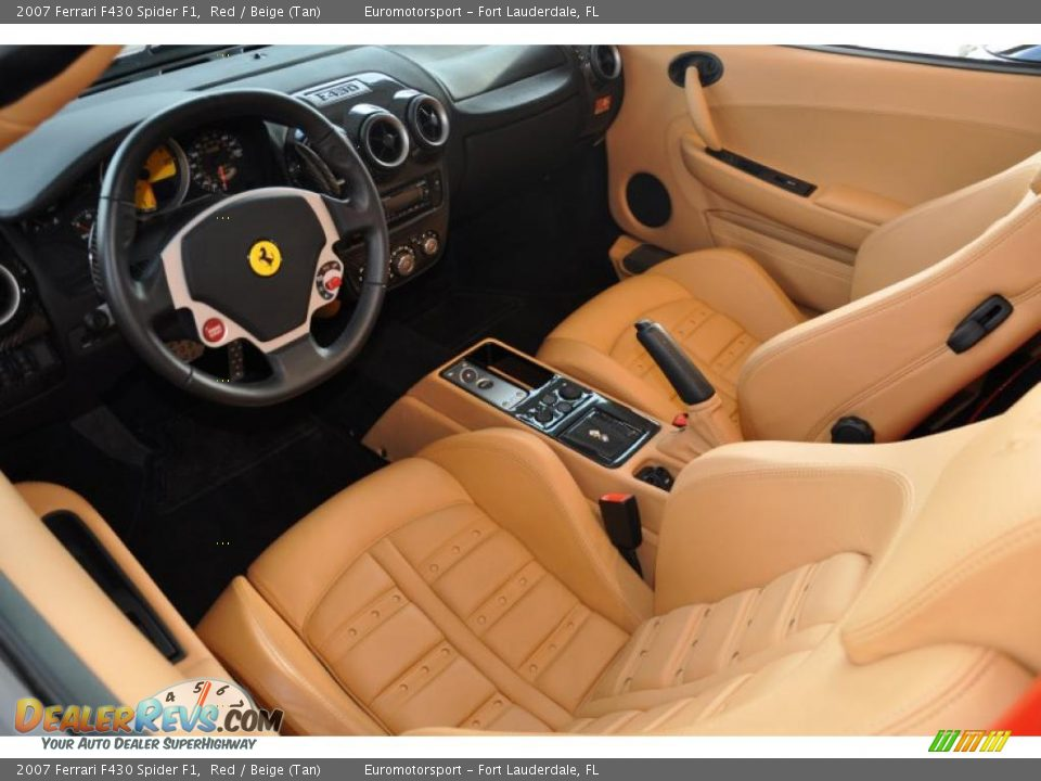 beige tan interior 2007 ferrari f430 spider f1 photo 10. Black Bedroom Furniture Sets. Home Design Ideas
