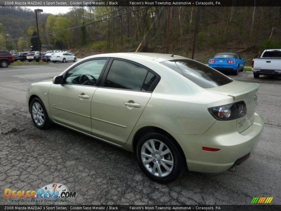 golden sand metallic 2008 mazda mazda3 s sport sedan photo. Black Bedroom Furniture Sets. Home Design Ideas
