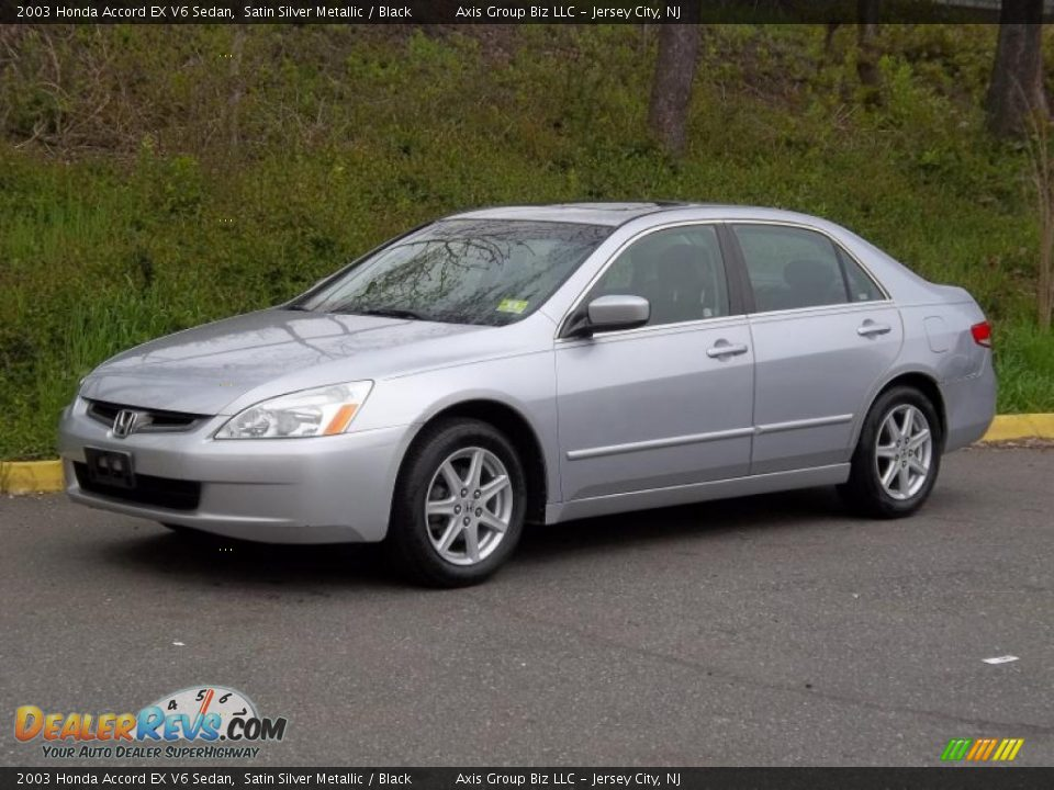 2003 honda accord ex v6 sedan satin silver metallic. Black Bedroom Furniture Sets. Home Design Ideas