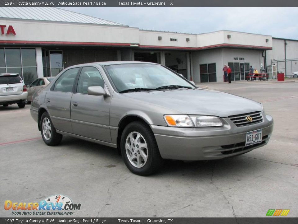 1997 toyota camry xle v6 antique sage pearl beige photo