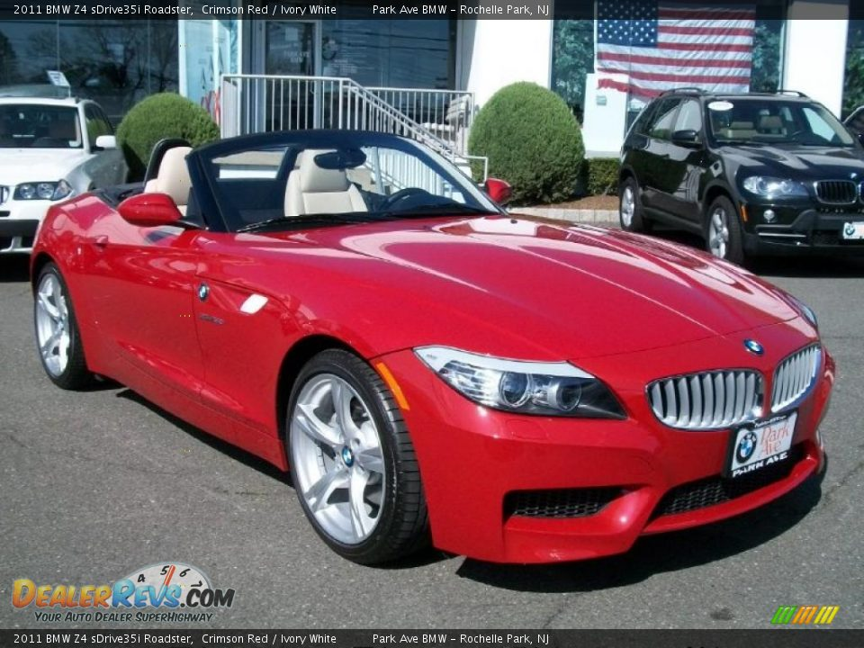 2011 Bmw Z4 Sdrive35i Roadster Crimson Red Ivory White Photo 3 Dealerrevs Com
