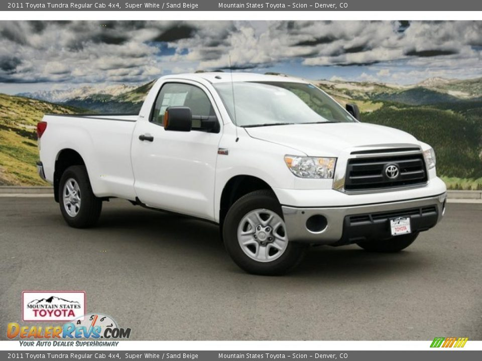 2011 toyota tundra regular cab 4x4 super white sand beige photo 1. Black Bedroom Furniture Sets. Home Design Ideas