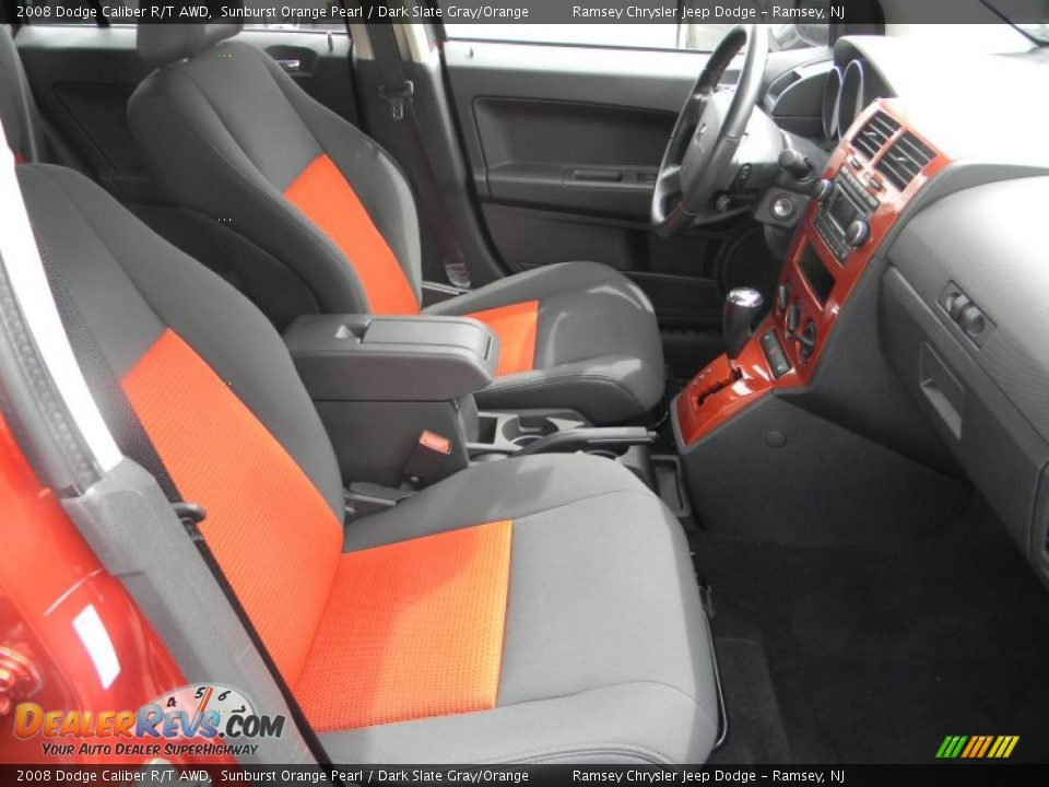 dark slate gray orange interior 2008 dodge caliber r t awd photo 10. Black Bedroom Furniture Sets. Home Design Ideas