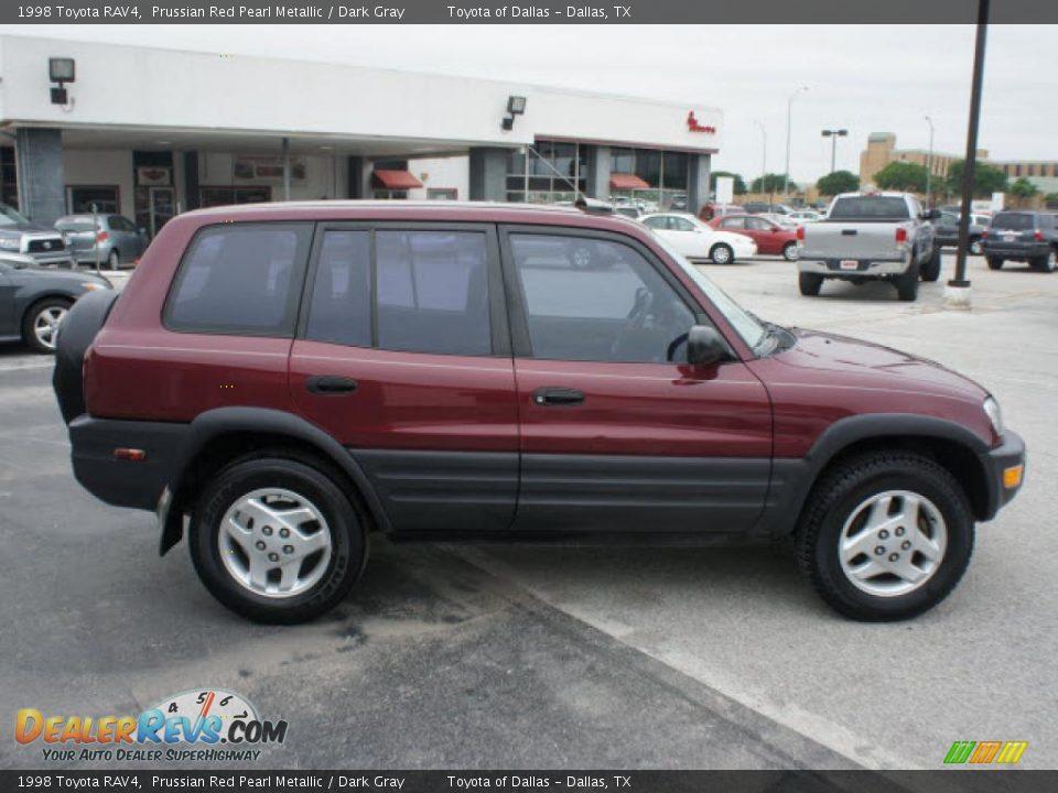 1998 Toyota Rav4 Prussian Red Pearl Metallic Dark Gray