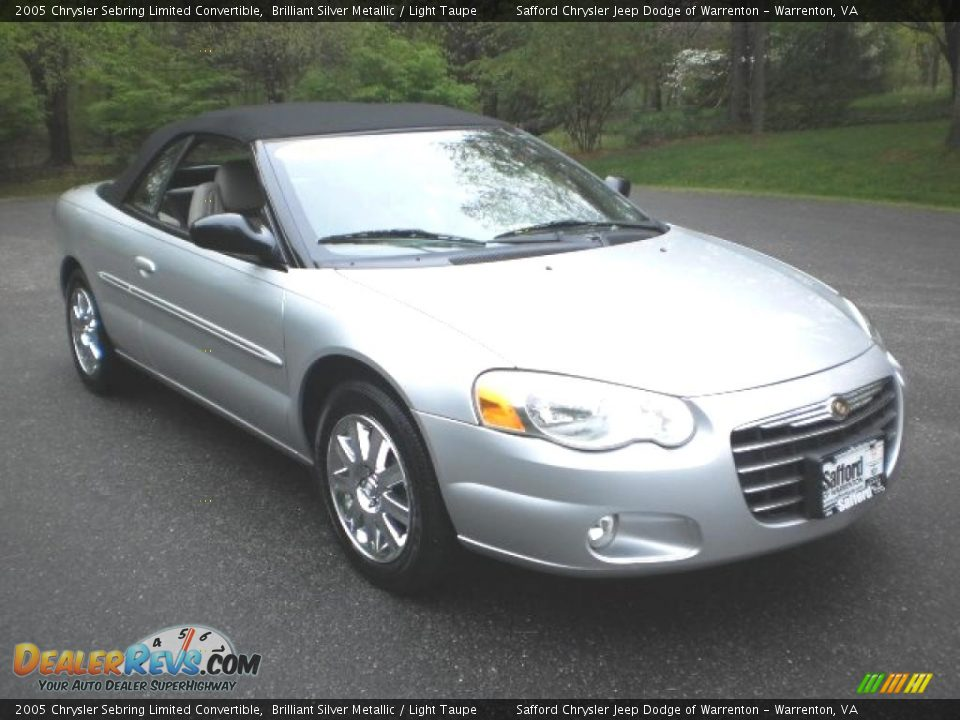 2005 chrysler sebring limited convertible brilliant silver metallic light taupe photo 5. Black Bedroom Furniture Sets. Home Design Ideas