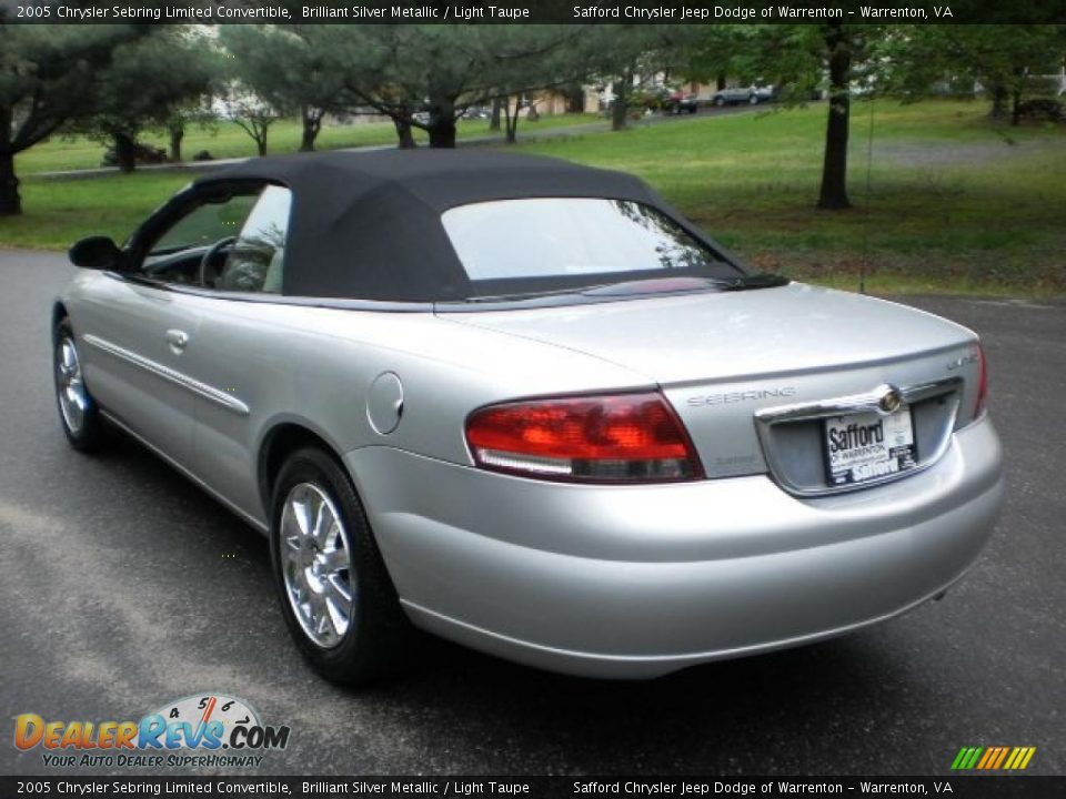 2005 chrysler sebring limited convertible brilliant silver metallic light taupe photo 7. Black Bedroom Furniture Sets. Home Design Ideas
